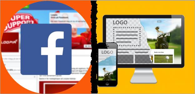 Facebook ili web sajt